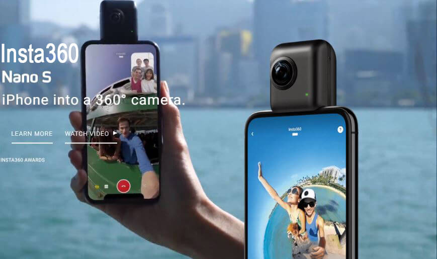 Insta360 Nano S- Introduced with 360° Video Chat, 4K Video & All-New MultiView